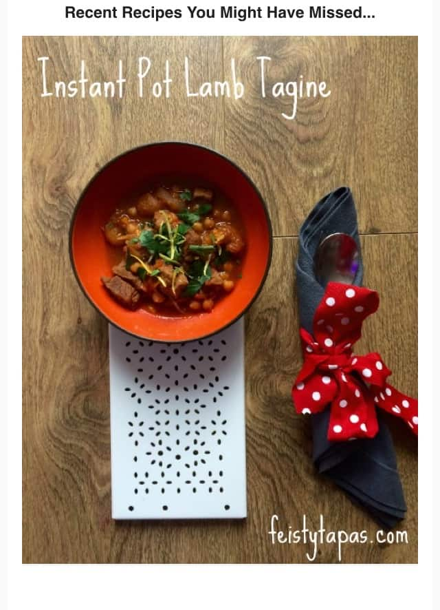 Instant Pot Lamb Tagine recipe by Feisty Tapas. Delicious, tasty, easy, make it any time of the week