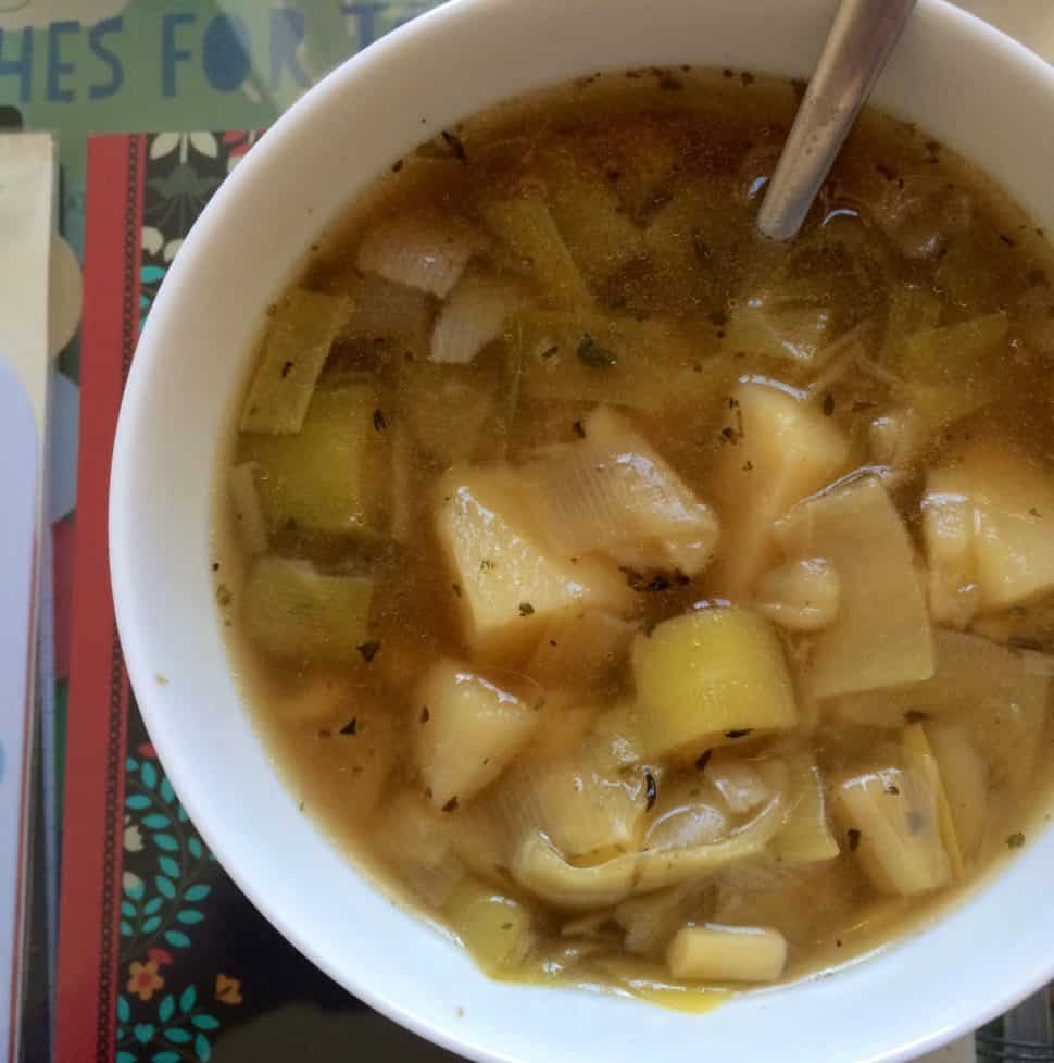 Chunky Leek and Potato Soup with a Twist - Instant Pot and Conventional Methods