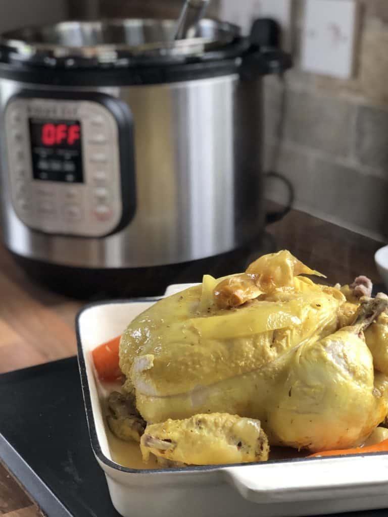 Instant Pot Lemony Whole Chicken