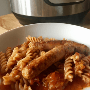 Instant Pot Sausage Pasta recipe by Feisty Tapas