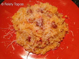 Thermomix Chorizo and red pepper risotto (recipe)