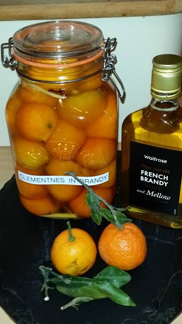 Clementines in Brandy as prepared by Christmas Fairy V