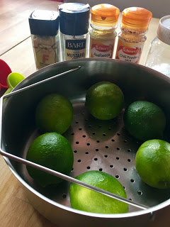 Quick Lime Pickle - Instant Pot, Thermomix, pressure cooker and conventional methods - Ingredients ready to go