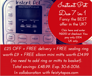 The best Instant Pot offer in the UK - £104 + free spare sealing ring + free silicon mini mitts + free delivery