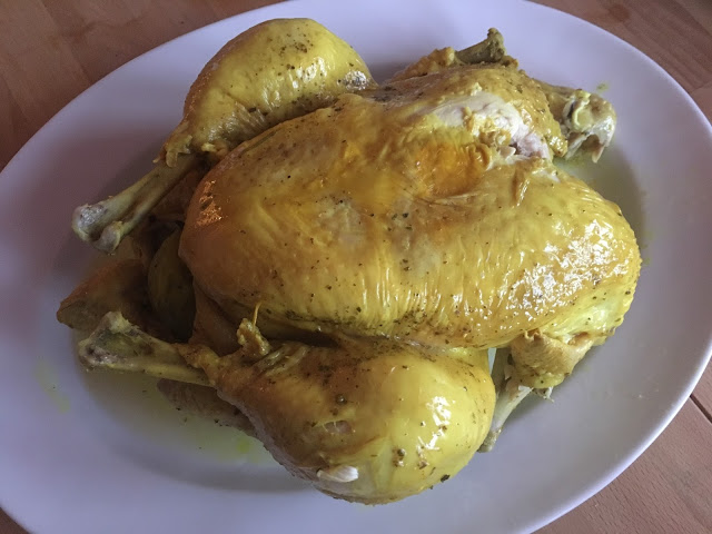 Instant Pot Whole Lemony Chicken recipe by Feisty Tapas - served