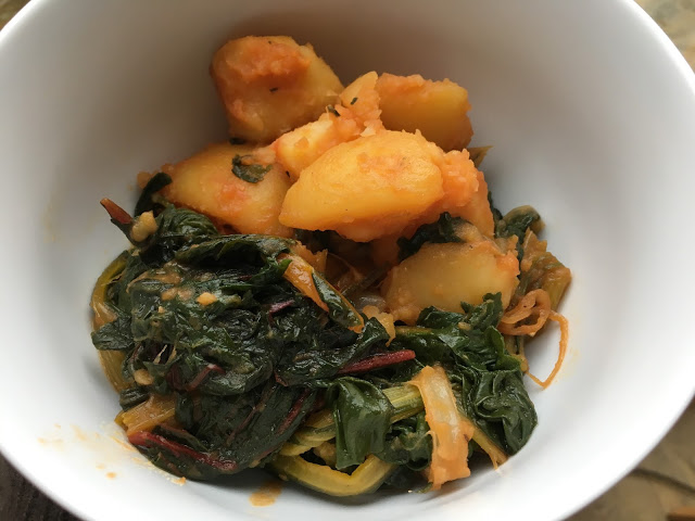 Instant Pot Pressure Cooker Paprika Chard and Potatoes recipe by Feisty Tapas