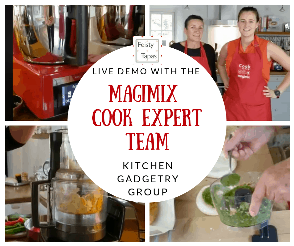 The recording of the Live demo of the MagImix Cook Expert by the Magimix UK team in the Kitchen Gadgetry with Feisty Tapas Facebook group