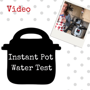 Instant Pot Water Test -UK