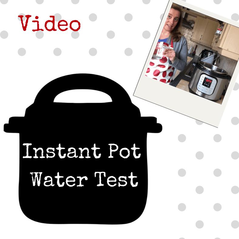 Instant Pot Water Test -UK