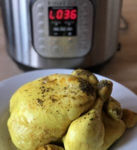Instant Pot Zero Minute Chicken. Zero effort. Perfect, tender, moist chicken any day of the week