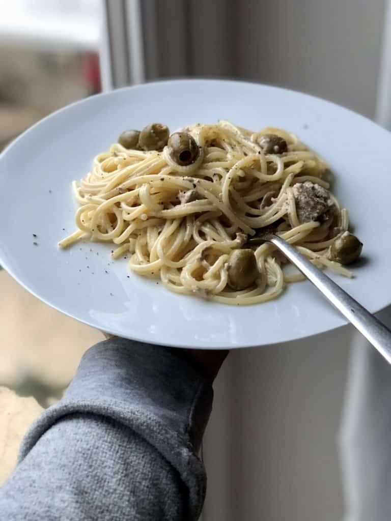 Four ingredient Creamy Tuna Pasta recipe by Feisty Tapas