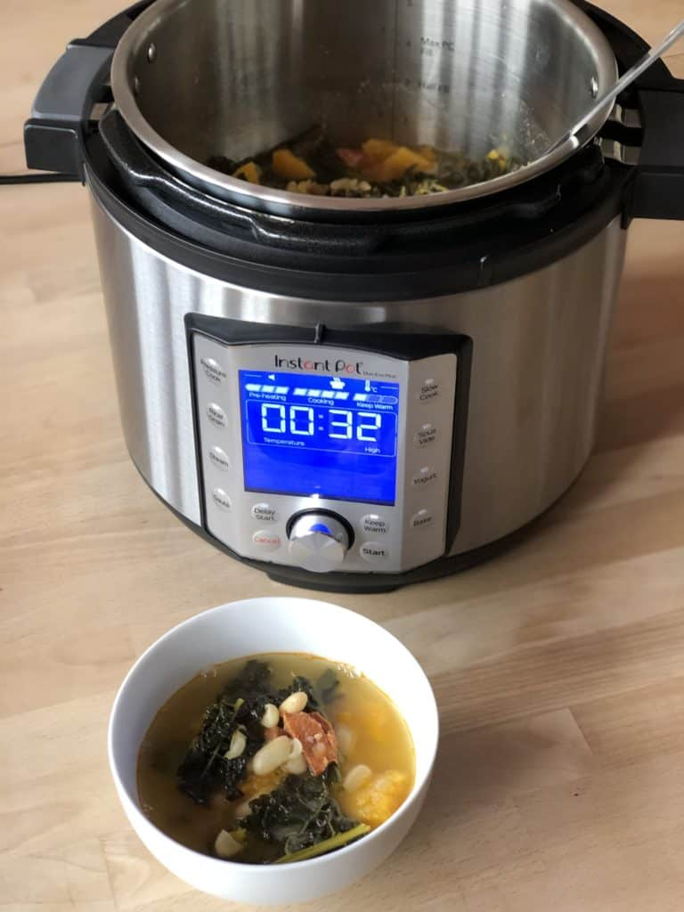 Instant Pot Cavolo Nero and Squash Soup recipe in the Duo Evo Plus - Recipe by Feisty Tapas