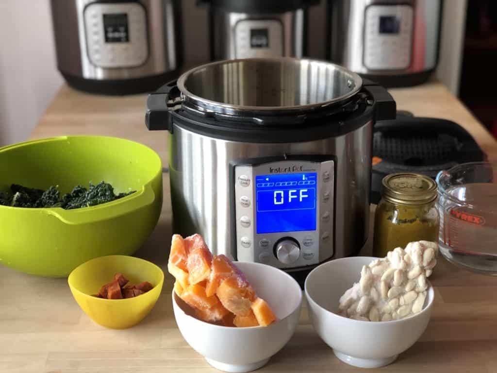 Instant Pot Cavolo nero and squash soup recipe in the Duo Evo Plus - Recipe by Feisty Tapas
