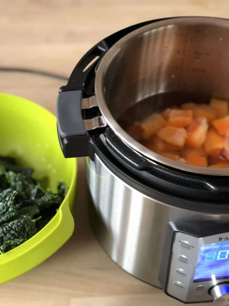 The new Instant Pot Duo Evo Plus - It has handles so the inner pot doesn't spin - Instant Pot Cavolo nero and Butternut Squash Soup