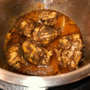 Instant Pot Baharat Chicken recipe by Feisty Tapas