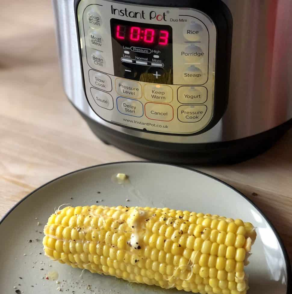 Instant Pot Corn on the Cob recipe for beginners by Feisty Tapas