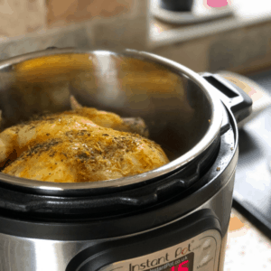 Instant Pot Lemony Whole Chicken recipe by Feisty Tapas