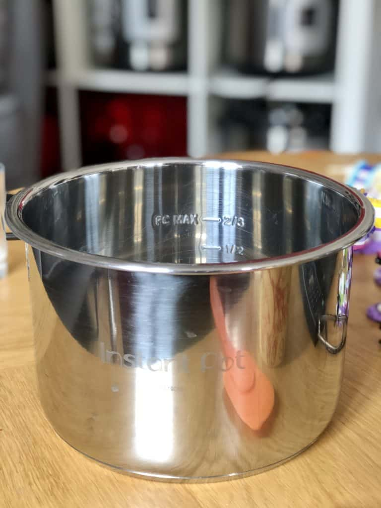 Instant Pot Filling Rules - The markings on the inner pot of your Instant Pot will help you - ½ and ⅔ markings