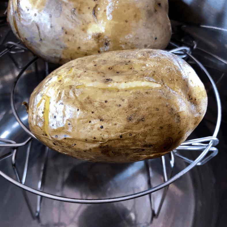 Instant Pot Crisp Jacket potatoes