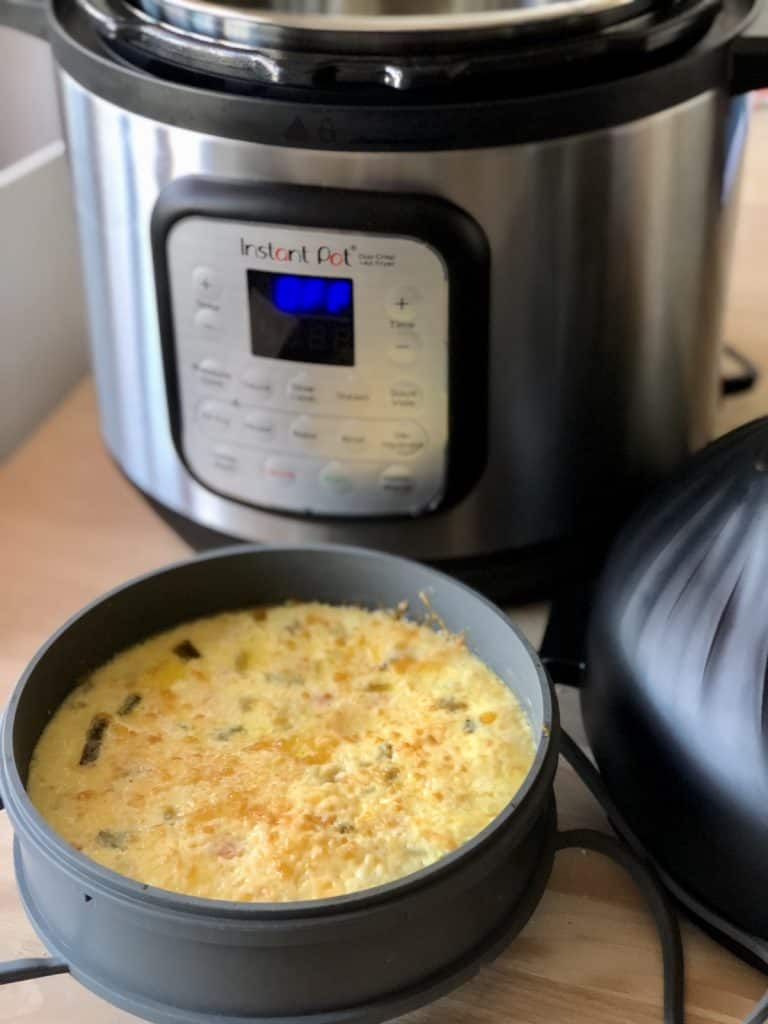 Instant Pot Duo Crisp Crustless Quiche