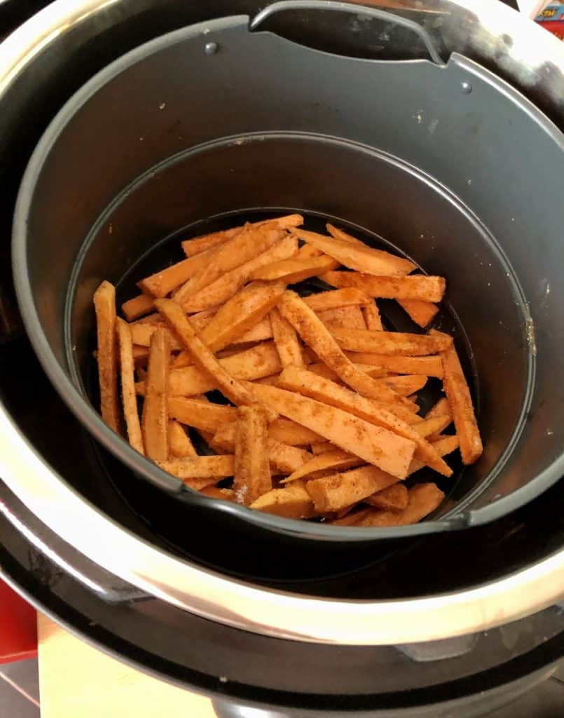 Instant Pot Duo Crisp Sweet Potato Fries - featured image