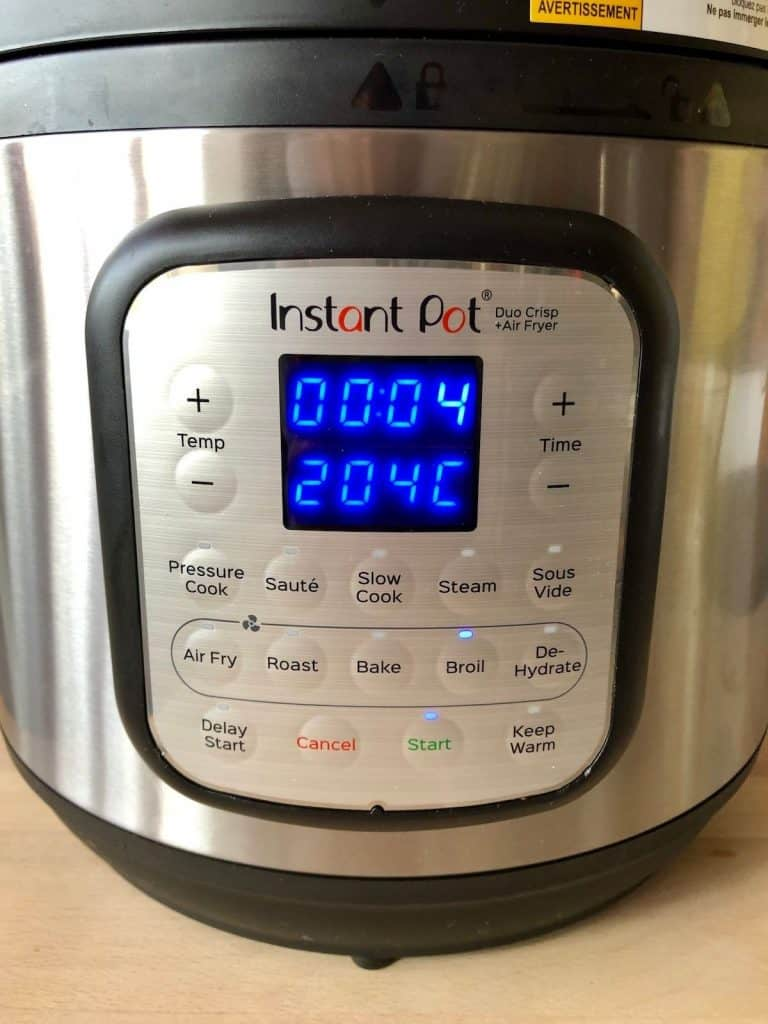 Instant Pot Duo Crisp - Broil for 4 minutes