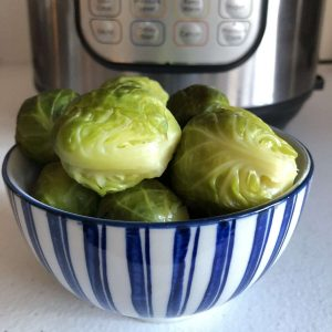 How to pressure cook Brussels Sprouts