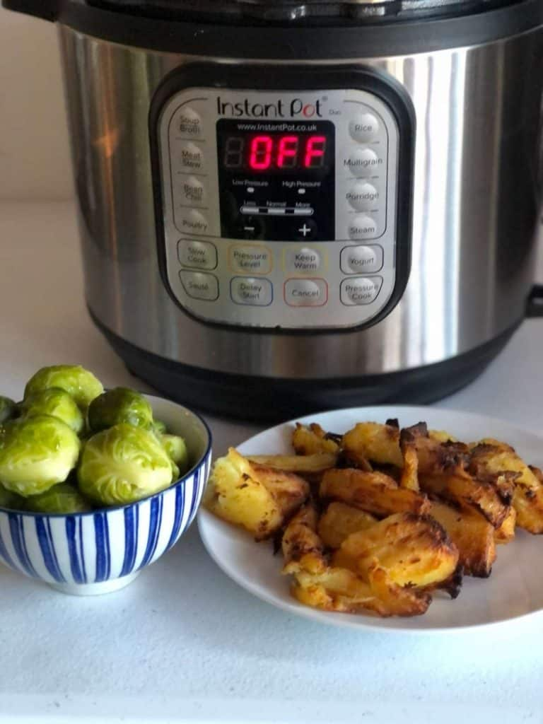 Instant Pot Duo Crisp Parsnips and Brussels Sprouts