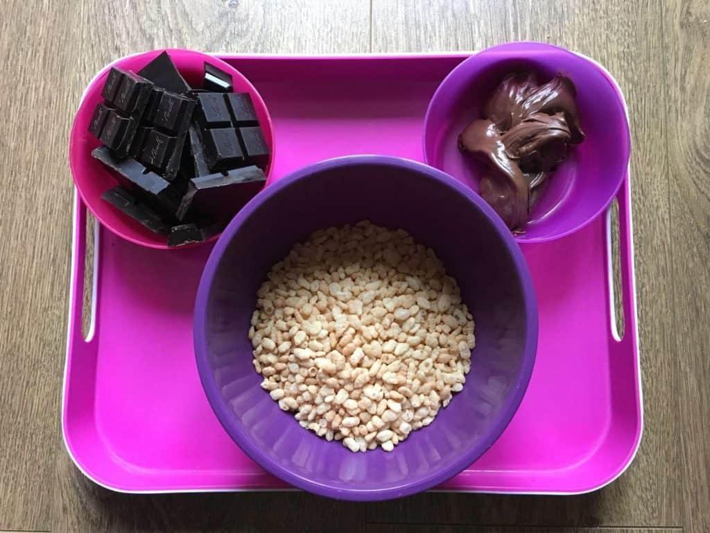 Spanish Chocolate Turrón (Turrón de chocolate tipo Suchard) – Thermomix method - ingredients