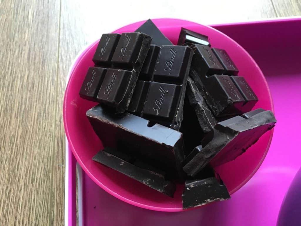 Spanish Chocolate Turrón (Turrón de chocolate tipo Suchard) – Thermomix method - the chocolate in chunks