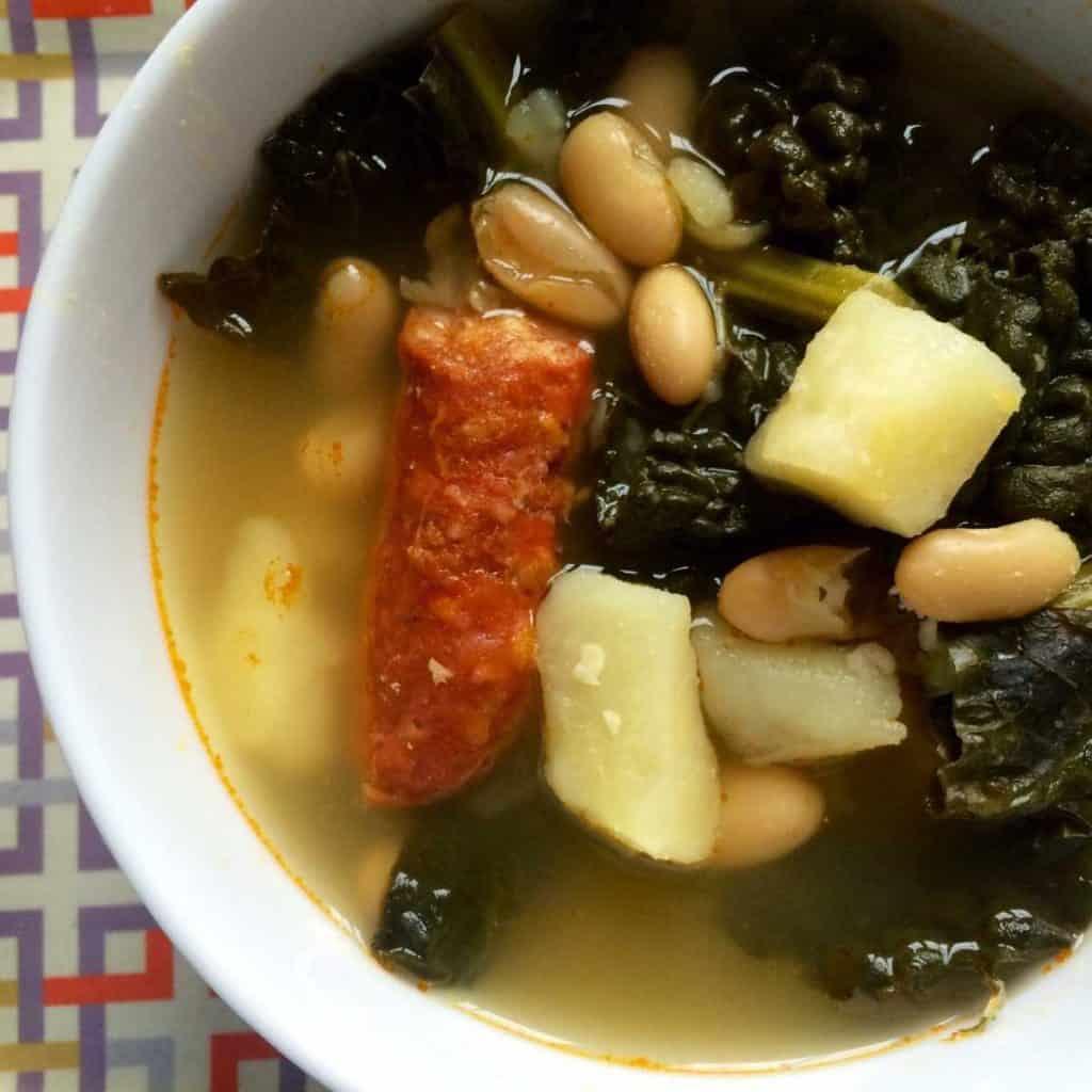 Instant Pot Kale and Chorizo Soup (Caldo Gallego)