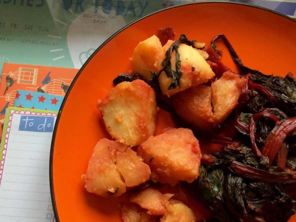 Thermomix Paprika Chard and Potatoes recipe - Spanish Acelgas con Patatas